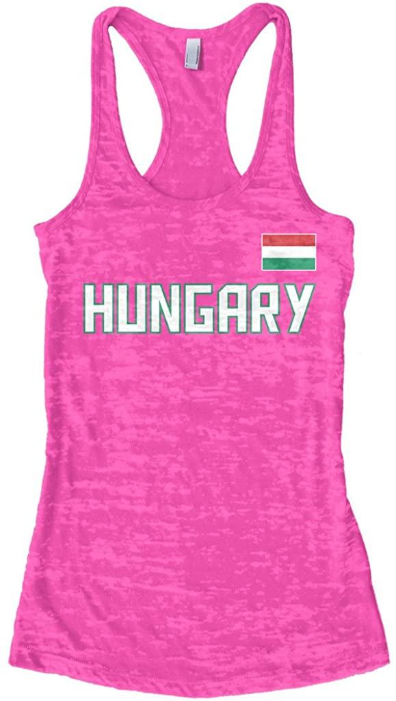 Threadrock Women's Hungary National Pride Burnout Racerback Tank Top