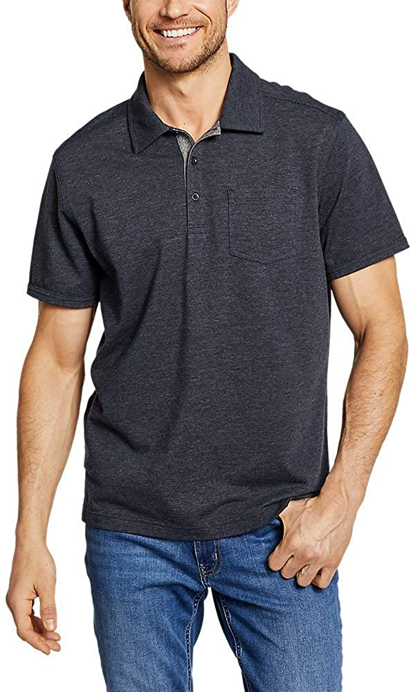 Eddie Bauer Men's En Route Short-Sleeve Polo Shirt