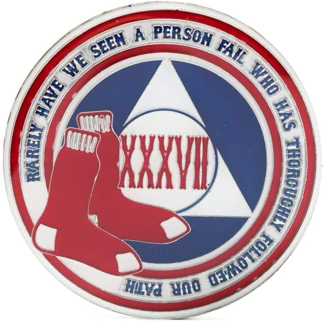 MyRecoveryStore 1-50 Years Alcoholics Anonymous Baseball AA Chip Medallion
