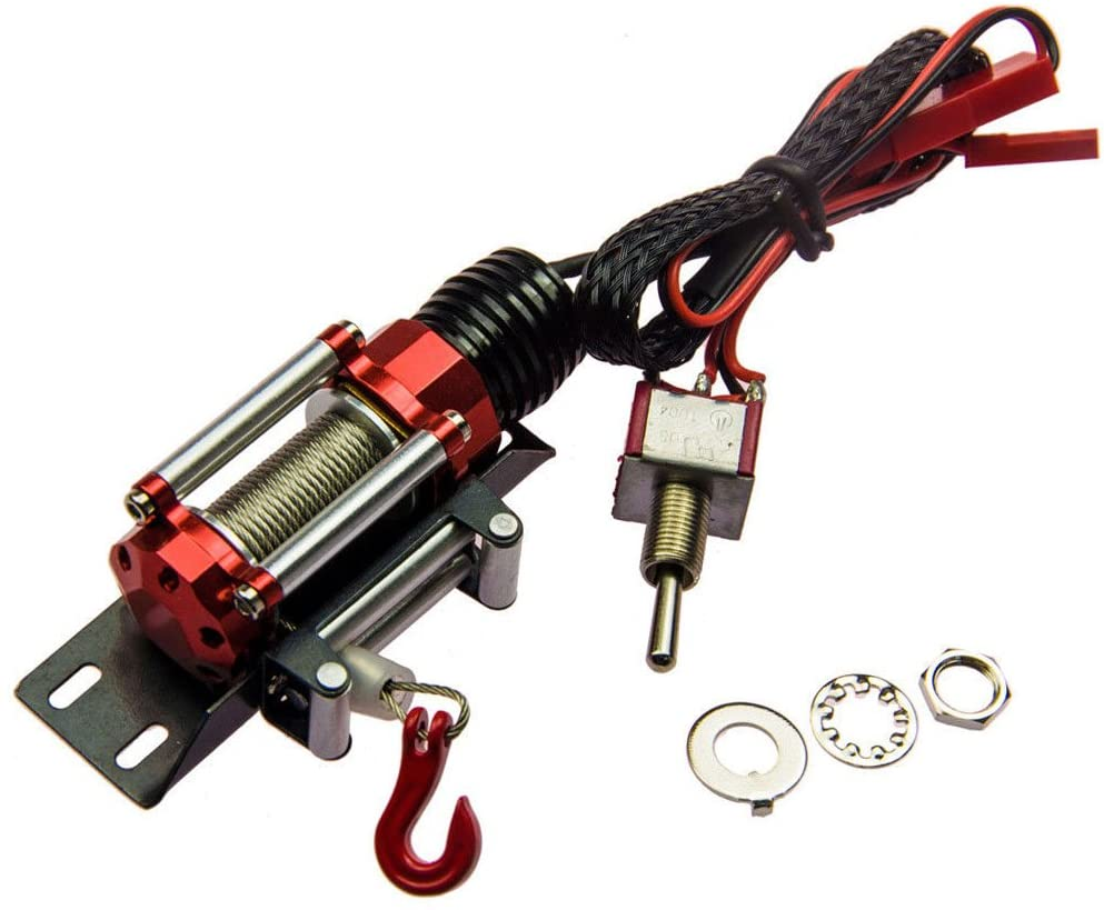 LAFEINA 1:10 Scale Automatic Wired Winch Control System Type for RC Crawler Axial SCX10 D90