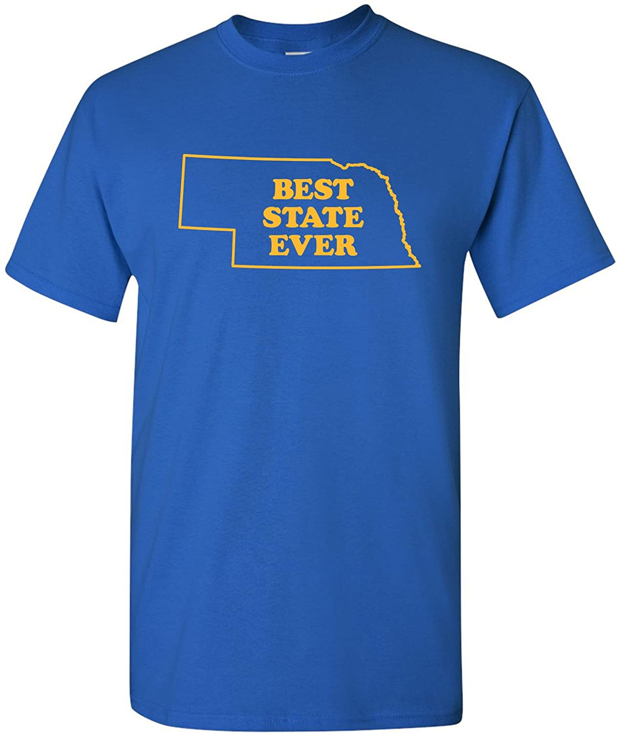 UGP Campus Apparel Best State Ever, Hometown Pride, State Pride, Basic Cotton T-Shirt