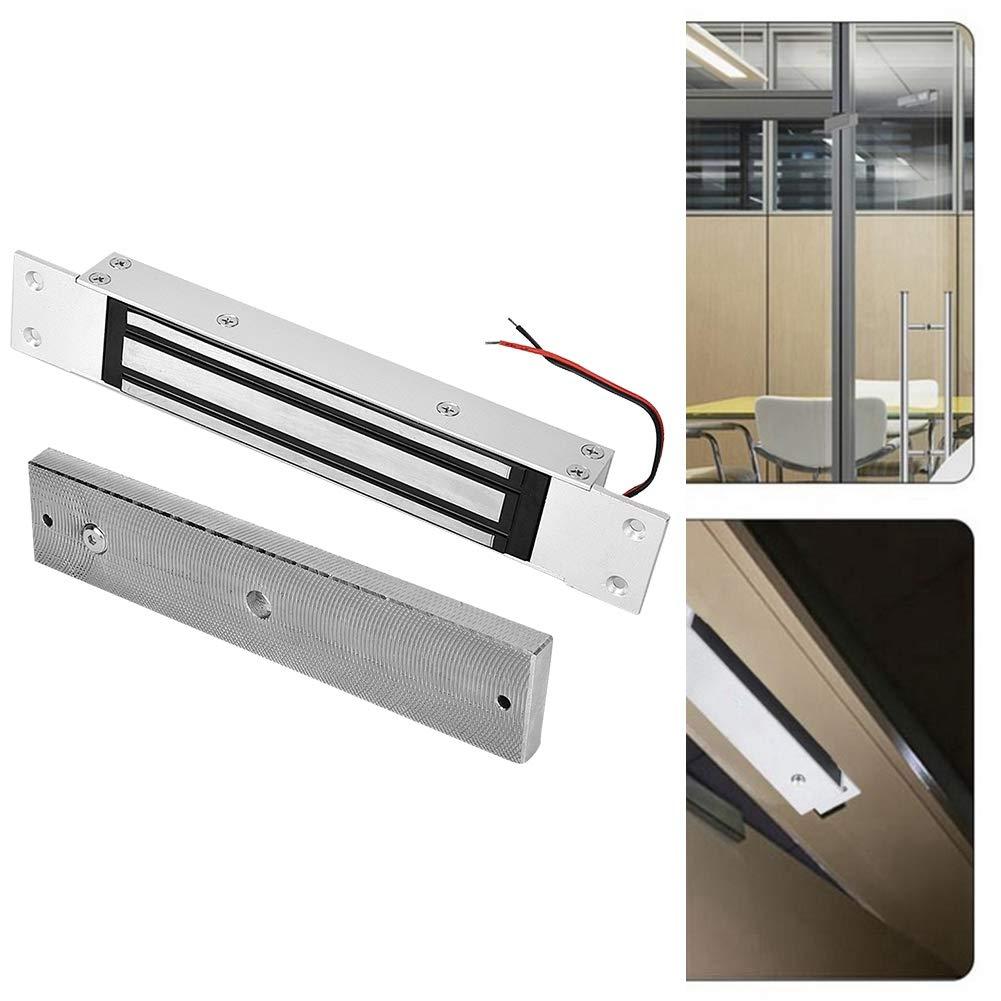 Electromagnetic Lock, DC 12V 280kg Holding Force Embedded Electric Magnetic Lock for Single Swinging Door