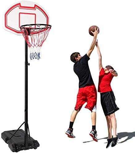 Mini Hoop Basketball System with Adjustable-Height Pole and 7-Inch Ball Outdoor Indoor for Kid
