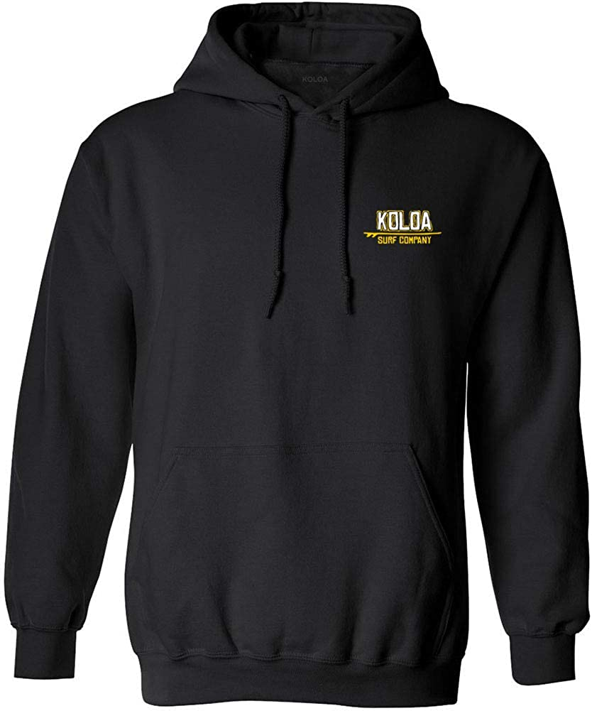 Koloa Surf Mens Stylized Surfer Logo Hoodie-XL-Black/c