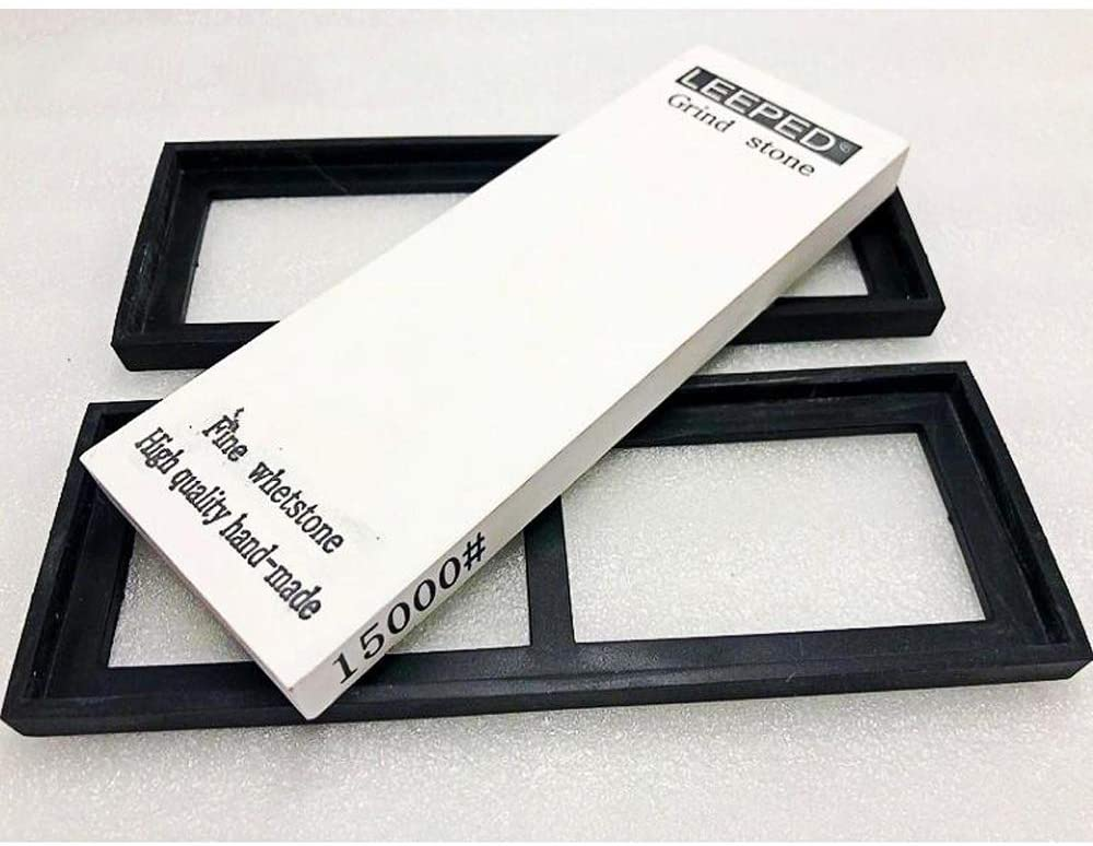 FXYHELLO Kitchen Sharpening Stone Set 10000/12000/15000/20000 grit Fine-blade polished Whetstone Knife Sharpener - with non-slip base (15000 Grit)