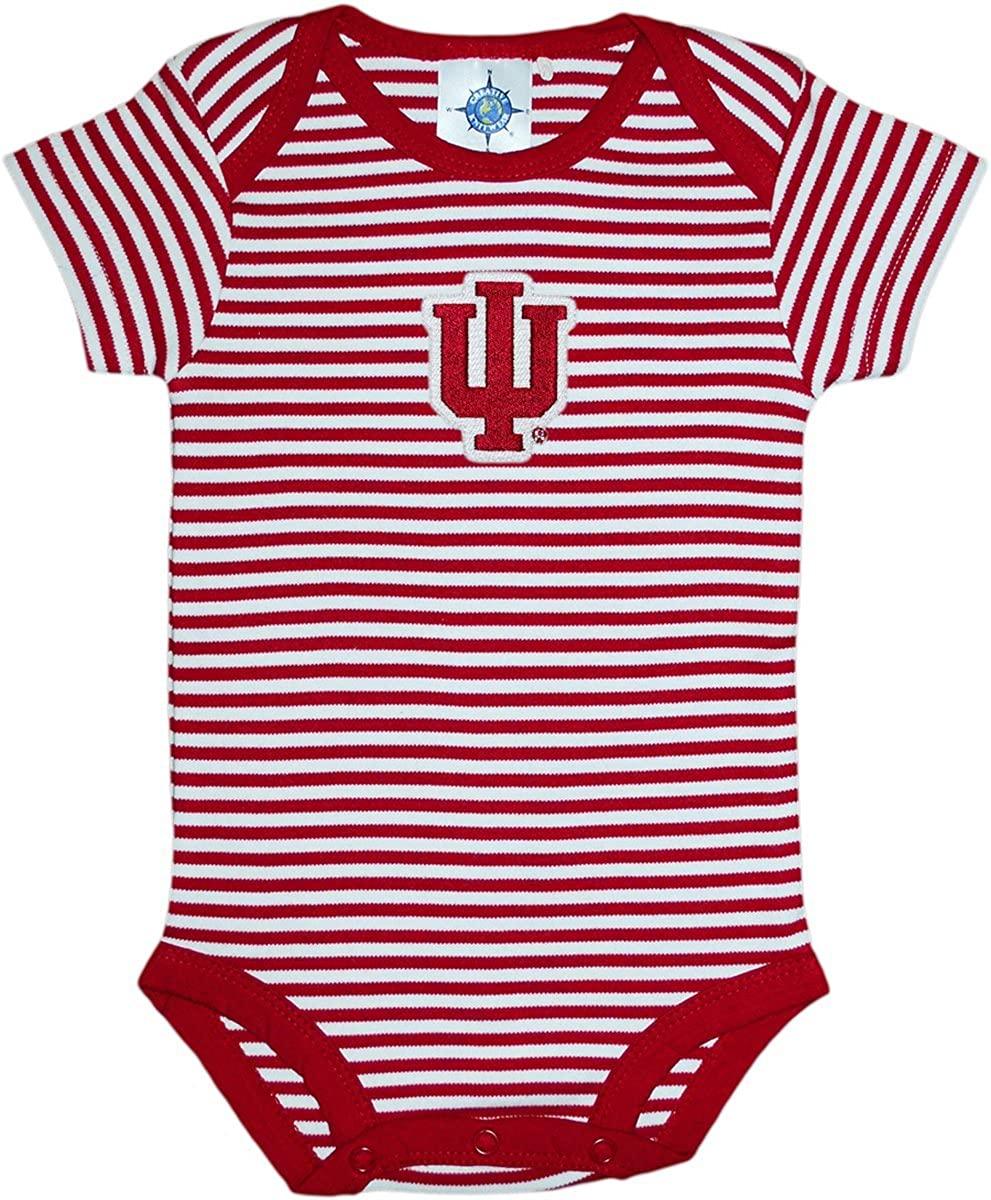 Creative Knitwear Indiana University Hoosiers Baby Striped Bodysuit