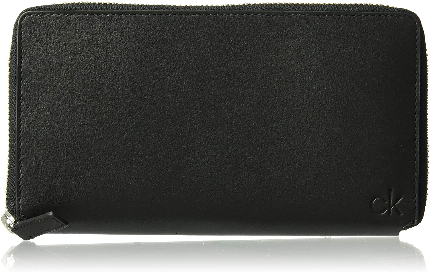 Calvin Klein Men's Zip Continental Wallet, black, 1 SIZE