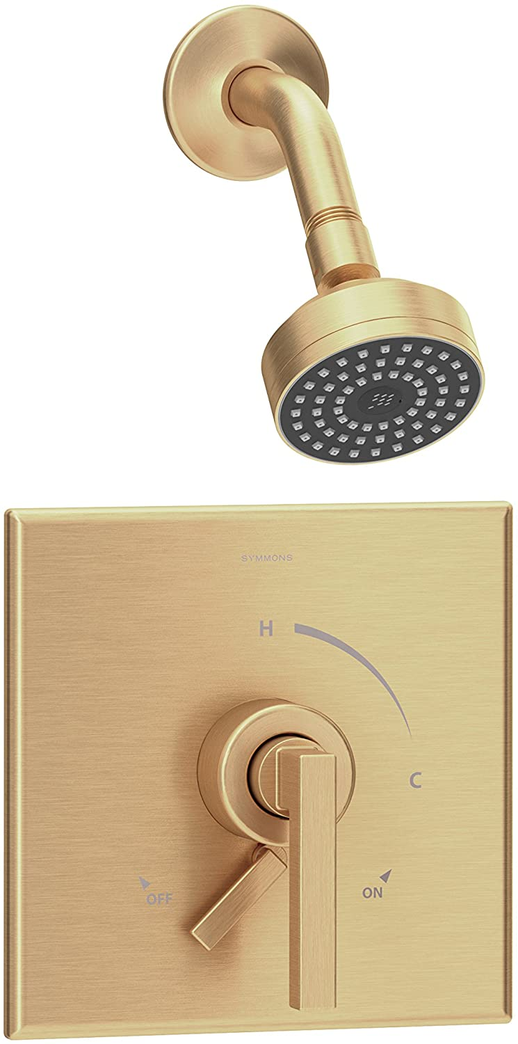 Symmons S-3601-BBZ-1.5-TRM Duro Single Handle 1-Spray Shower Trim with Secondary Volume Control in Brushed Bronze - 1.5 GPM (Valve Not Included)