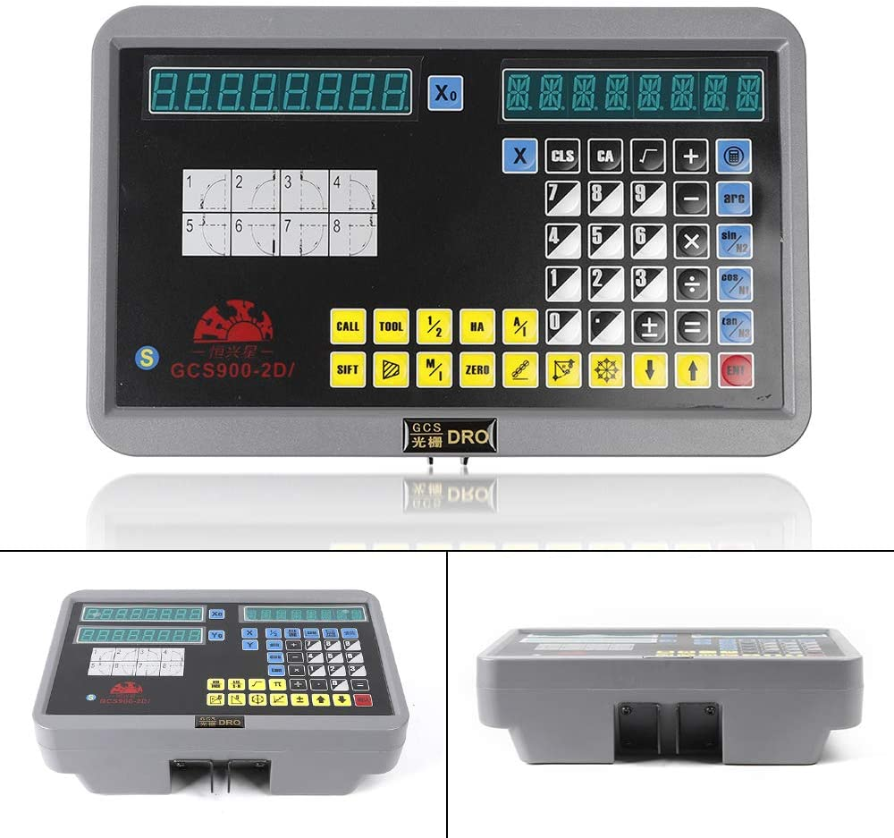 2 Axis Digital Readout DRO for Milling Lathe Machine with Precision TTL Linear Glass Scale
