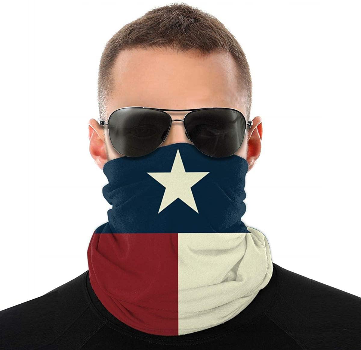 Texas State Flag Vintage Distressed Grunge Unisex Seamless Scarf Headband Bandana Outdoor Sweatband Headwear