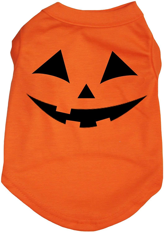 Petitebella Pumpkin Face Orange Puppy Dog Shirt