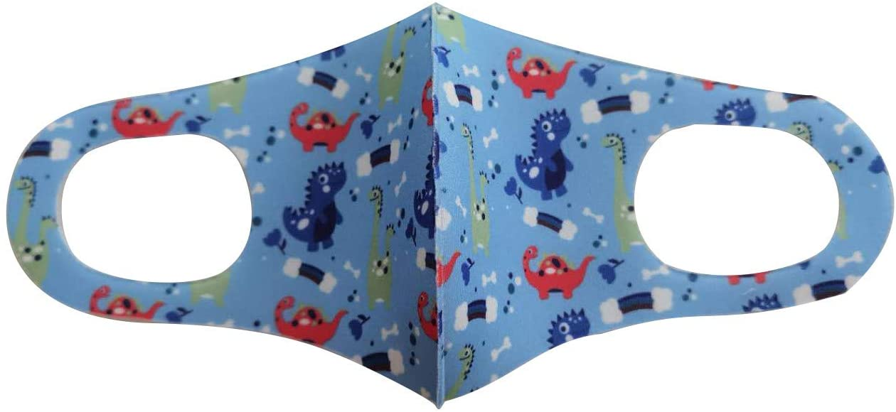 1/5/10/20PC Kids Cotton Reusable Mouth Shade,Cartoon Printing,Windproof、Pollution (20, Multicolor 3)