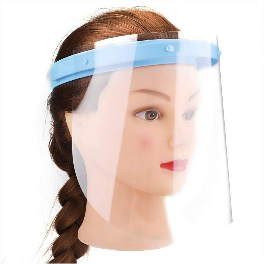 Afoxsos Anti-Fog Full Face Shield 5 Holders with 50 Plastics Anti Saliva Protective Film Replaceable