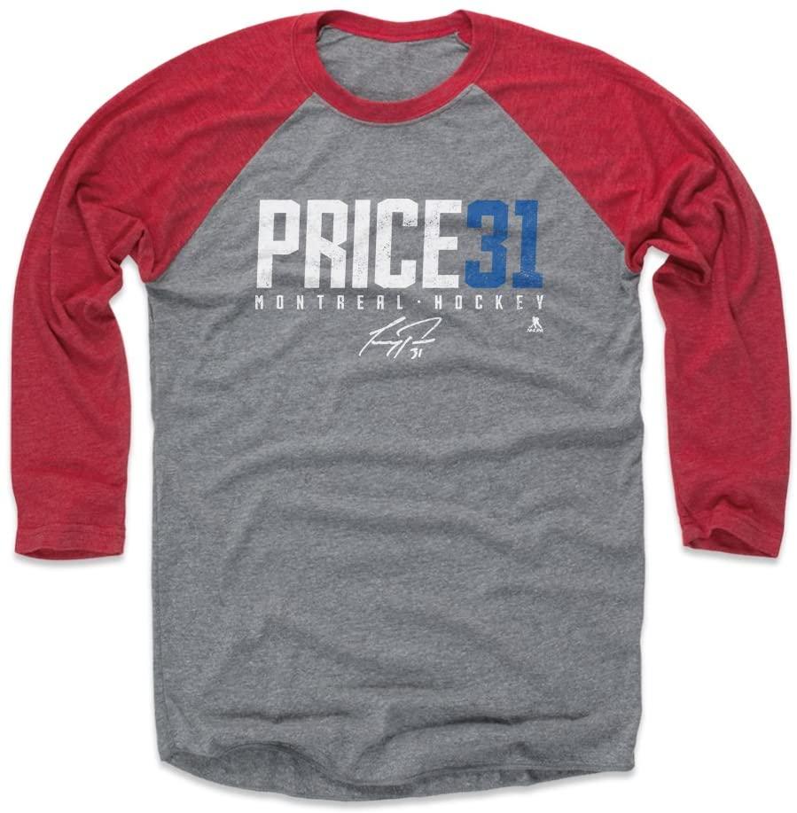 500 LEVEL Carey Price Shirt - Montreal Hockey Raglan Tee - Carey Price Price31