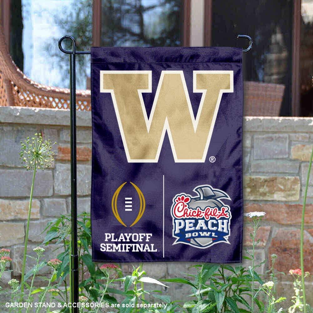 College Flags & Banners Co. University of Washington Huskies 2016 Semifinal Peach Bowl Garden Flag