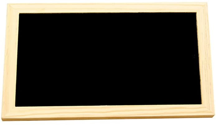 ULTNICE Wooden Erasable Chalkboards Blackboards Double-Sided Hanging Display for Message Board Signs 30X20cm