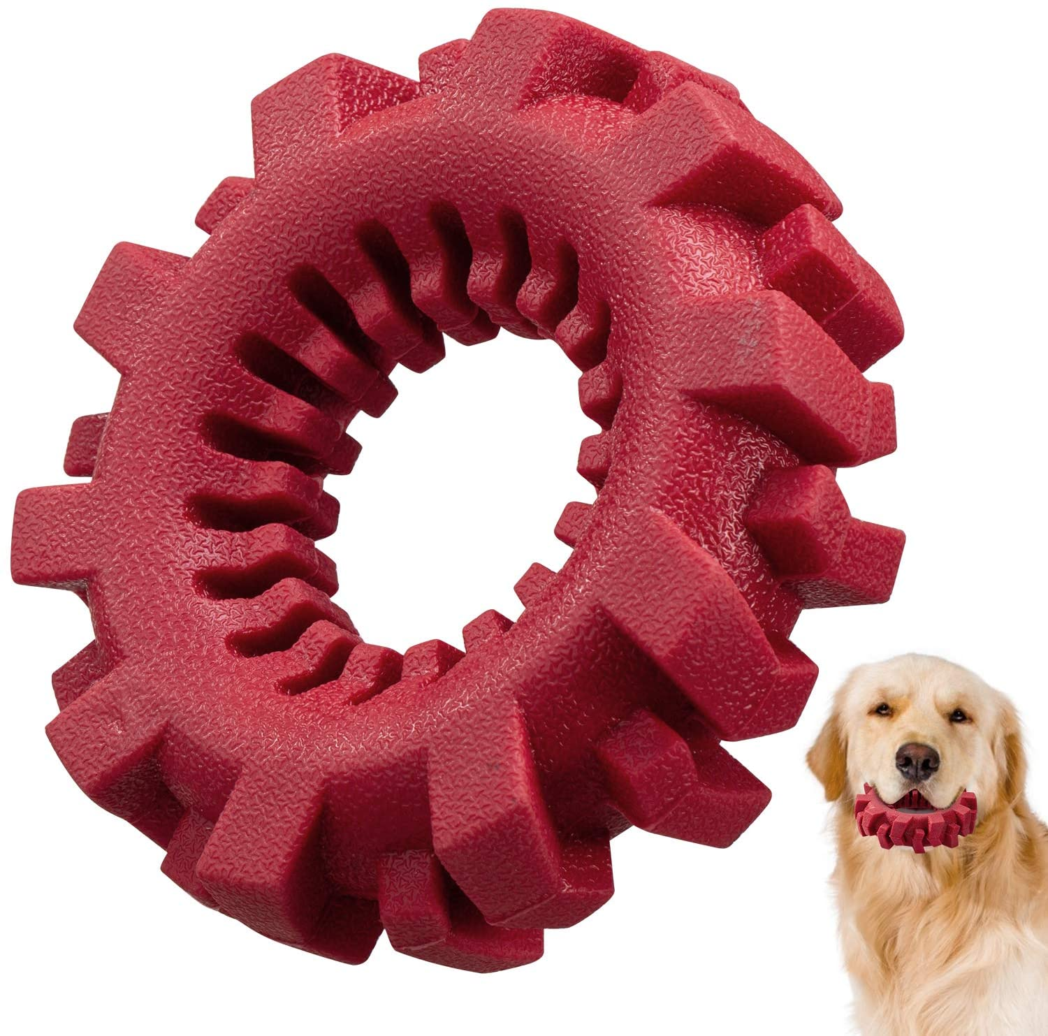 Dog Chew Toys, Tires Dog Chew Toy for Aggressive Chewers, Ultra-Tough Teeth Cleaning Toys for Small/Medium/Large Dog, Durable Tires Dog Toy for Playing, Training, Teething. �
