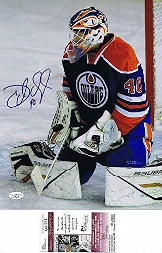 DEVAN DUBNYK Signed EDMONTON OILERS 11X14 PHOTO - JSA G41273 - Autographed NHL Photos