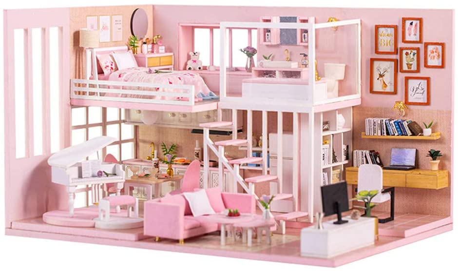 Cool Beans Boutique Do-It-Yourself Dollhouse Kit - Pink Style (Pink Dream Home)