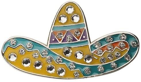 Navika Swarovski Crystal Ball Marker/hat Clip - Mexican Sombrero