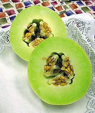 20pcs Rare Limegreen Melon, Honeydew Green Flesh Organic Highyielding, Organic Vegetable Fruits Seeds Exotic Hardy Perennial Garden