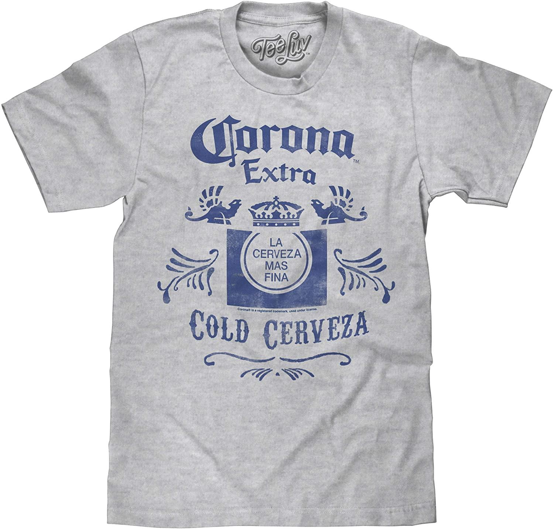 Tee Luv Corona Extra Shirt - Cold Cerveza Corona Crown Logo Shirt