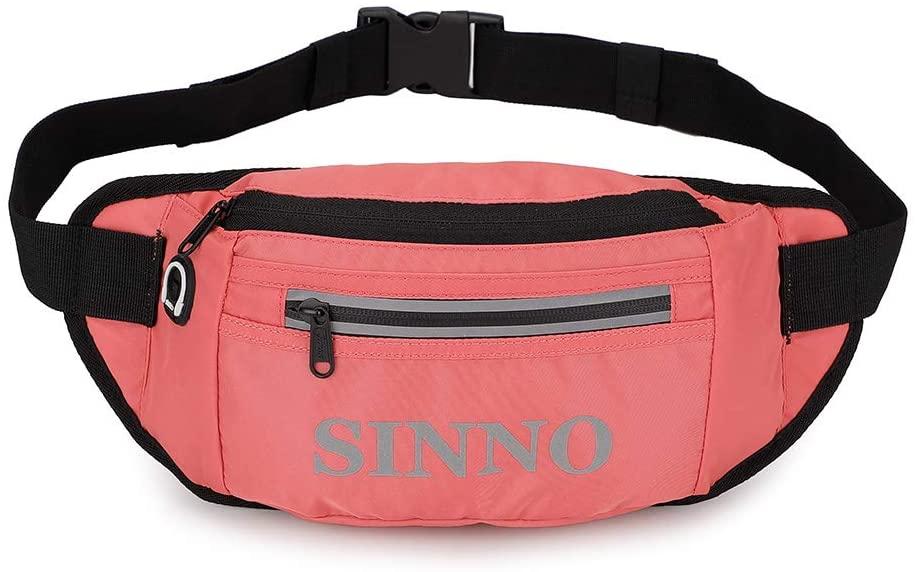Running Waist Bag for Women Big Pouch Adjustable Belt Lightweight Travel Fanny Pack Bags(Pink)