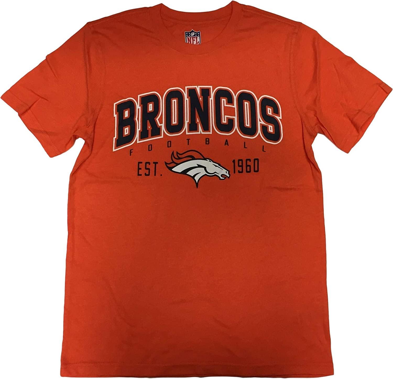 G-III Sports Denver Broncos Mens Franchise Est. Crew Neck T-Shirt