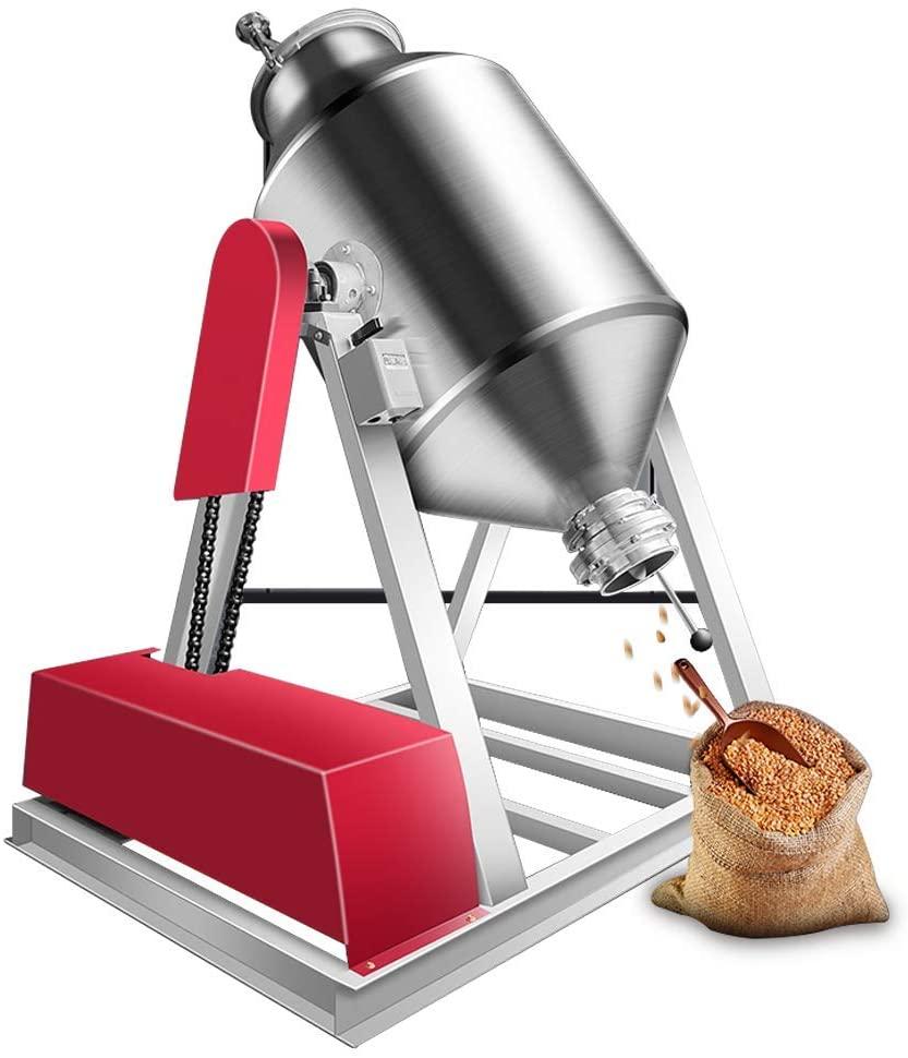 YUCHENGTECH 30L Lab Dry Powder Mixer Mixing Machine Particle Blender Powder Mixer Granual Blender for Food Chemical Medical (110V, 30L(10-15kg))