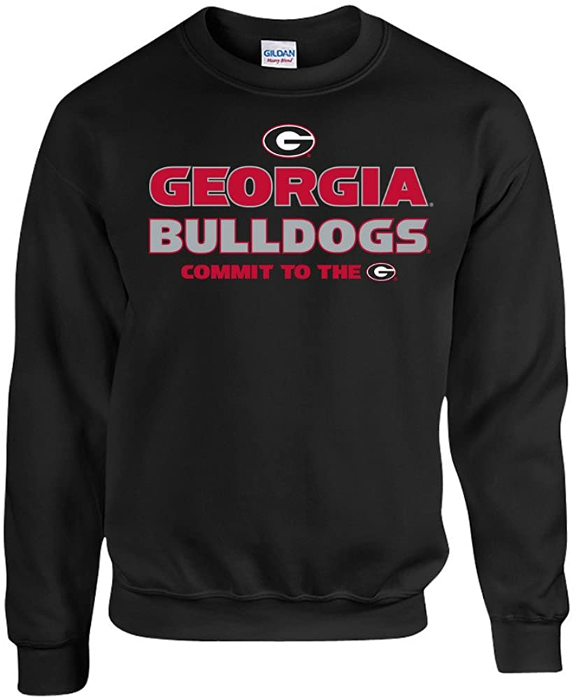 Elite Fan Shop Georgia Bulldogs Crewneck Sweatshirt Black