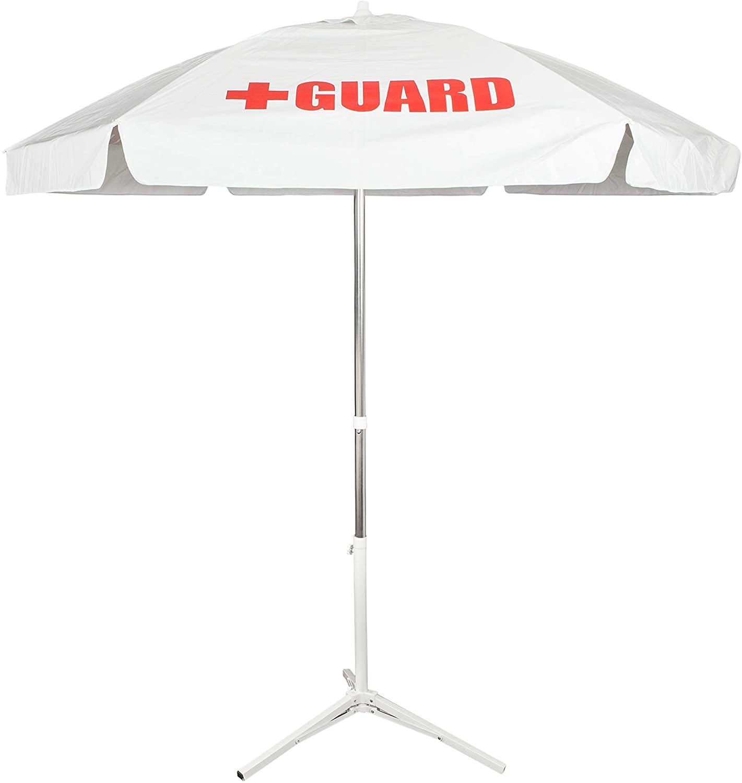 BLARIX Heavy Duty Guard Umbrella (White w/Logo)