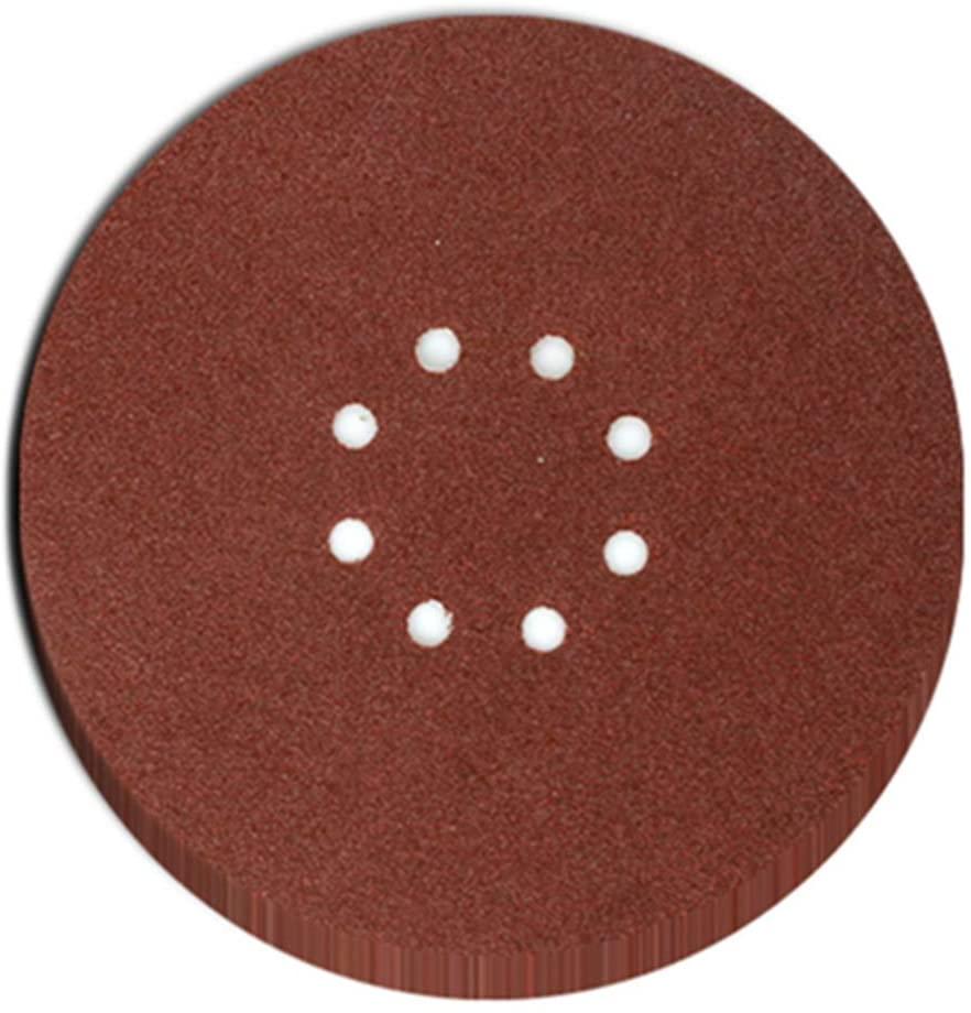 9 Inch Sandpaper Hook & Loop 8-Hole Sander Sheets 40 60 80 100 Grits Grinding Abrasive Sanding Disc for Drywall Sander and Polisher Wood Furniture
