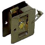Kwikset 333 Notch Bed/Bath Pocket Door Lock in Antique Brass
