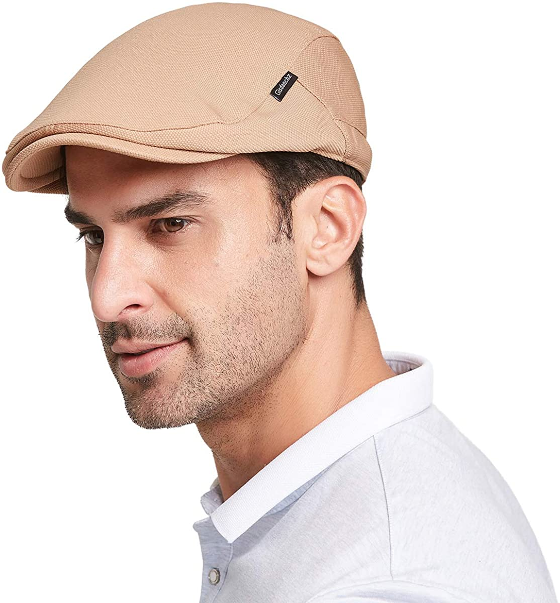 Gisdanchz Men's Newsboy Caps with Satin Lining