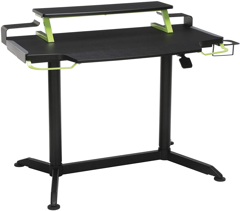RESPAWN 3000 Gaming Computer Desk - Ergonomic Height Adjustable Gaming Desk, in Green