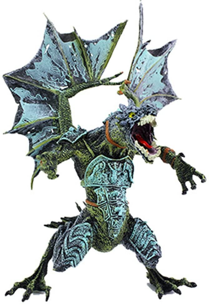 Rich Boxer Premium Dragon Figurines, Realistic Plastic Dragon, 5.7 Inch Dragons Action Figures Party Favors Gift(Blue)