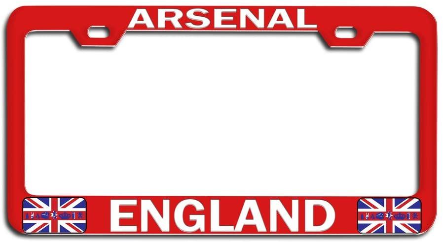 Makoroni - Arsenal England British England Rd Metal Auto License Plate Frame, License Tag Holder
