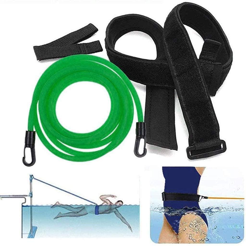 Wenjuan Swim Training Belts Swim Bungee Cords Resistance Bands Swim Tether Stationary Swimming, Swim Elastic Ropes Swimming Pool Workout Tools