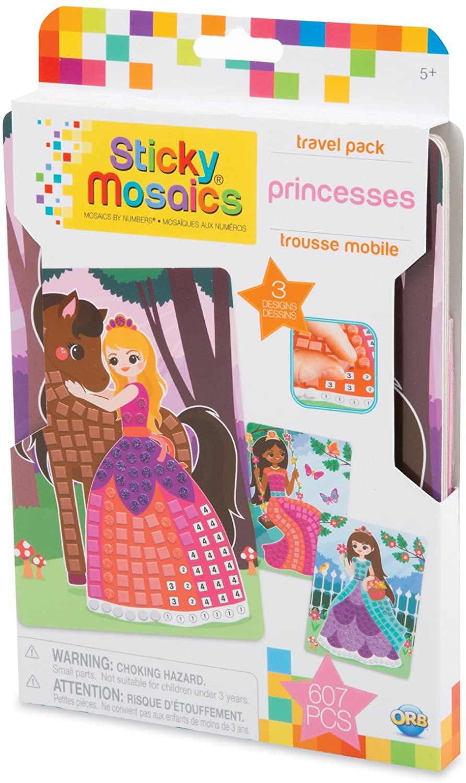 ORB 51020 Sticky Mosaics Travel Pack Princesses, Multi