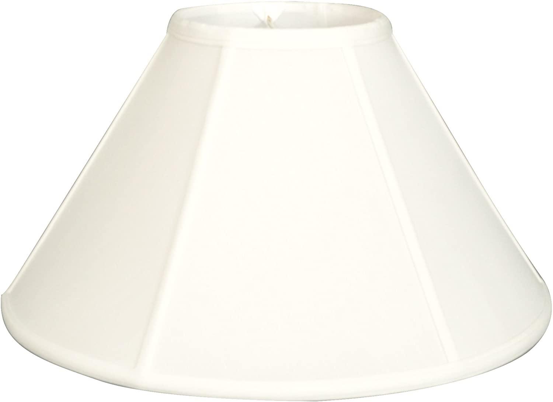 Royal Designs Empire Lamp Shade - White - 7 x 20 x 12.5