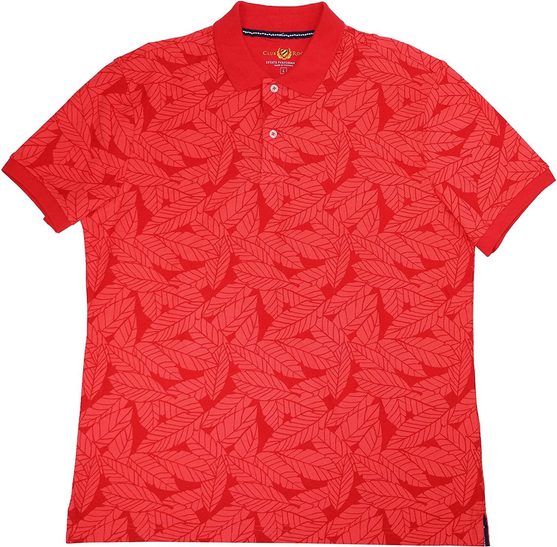 Club Room Mens Contrast Leafy Rugby Polo Shirt