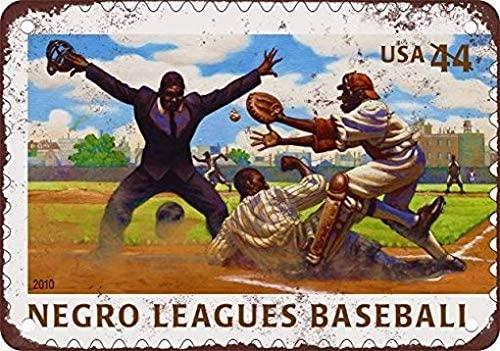 LoMall 12 x 16 Metal Tin Sign U.S. Postage Negro League Baseball Vintage Retro Home Decor Art 2 Wall Decor