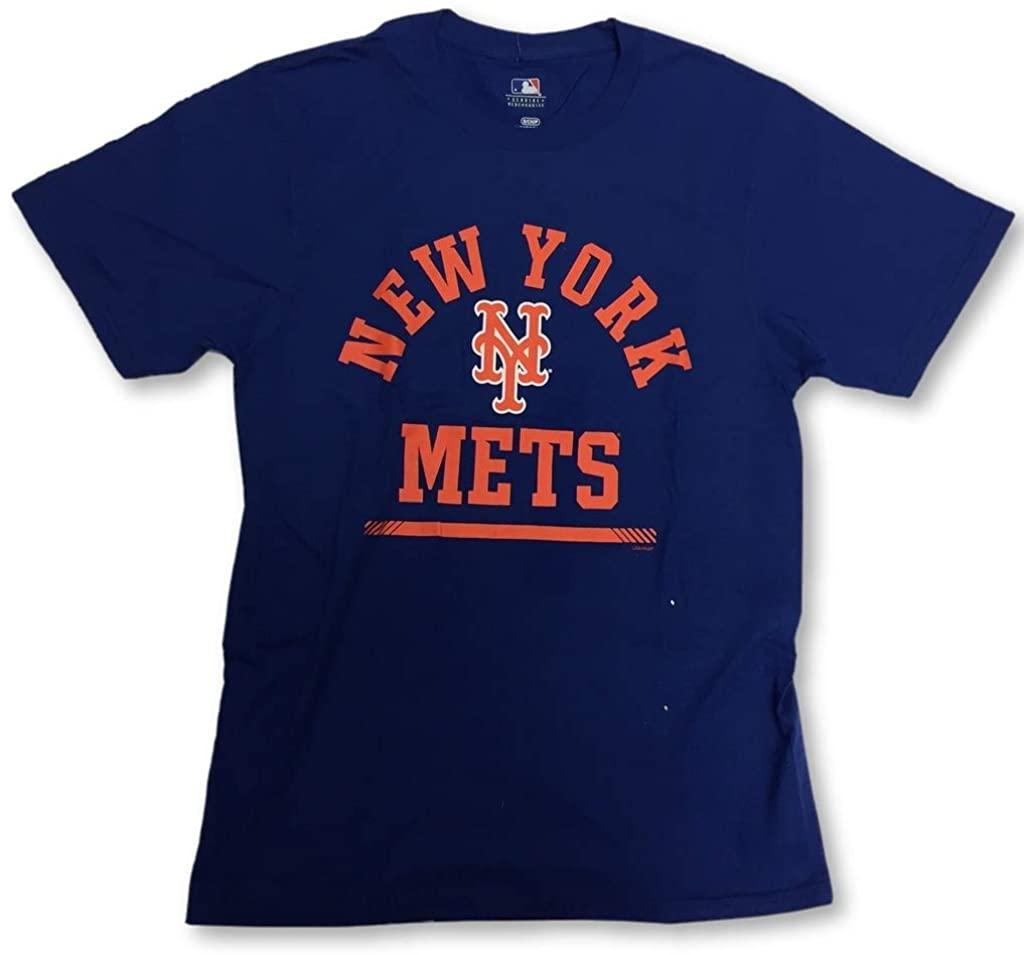 New York Mets Adult Men's Arch Crew Neck T-Shirt