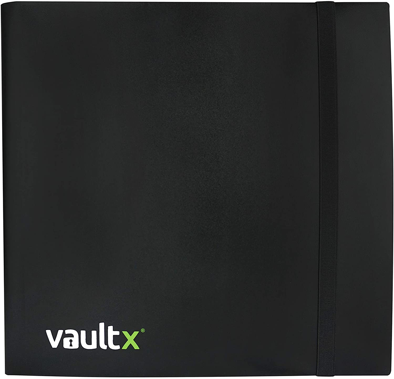 Vault X Binder - 12 Pocket Trading Card Album Folder - 480 Side Loading Pocket Binder for TCG (Black) (Standard)