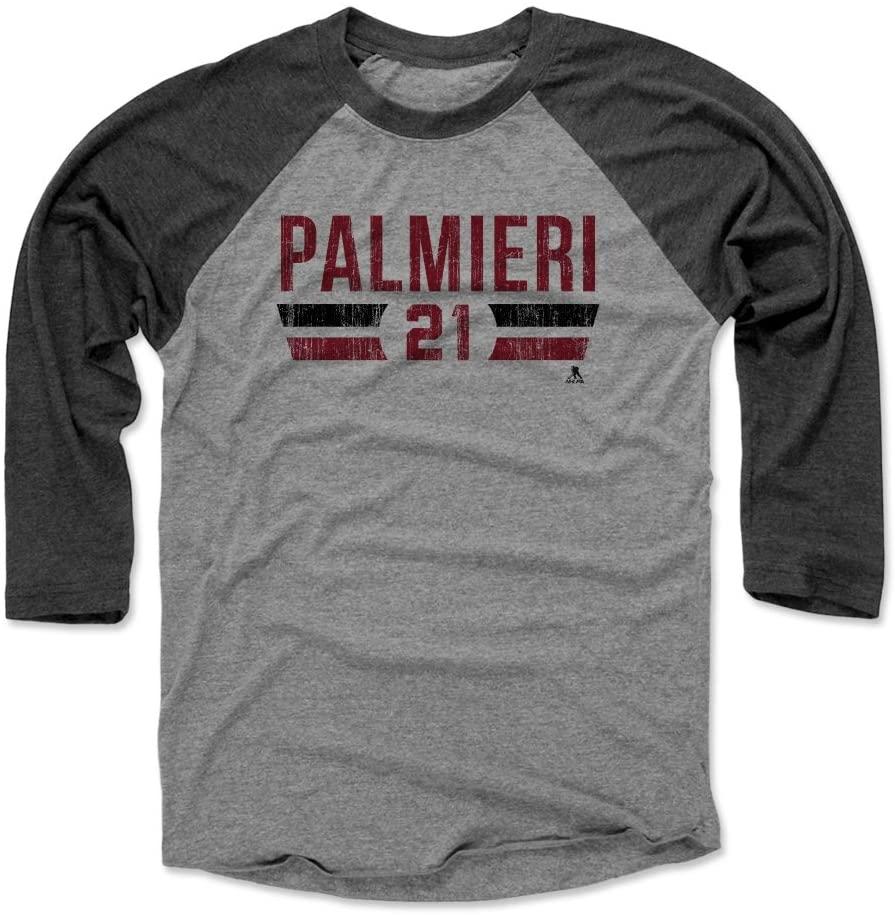 500 LEVEL Kyle Palmieri Shirt - New Jersey Hockey Raglan Tee - Kyle Palmieri Font