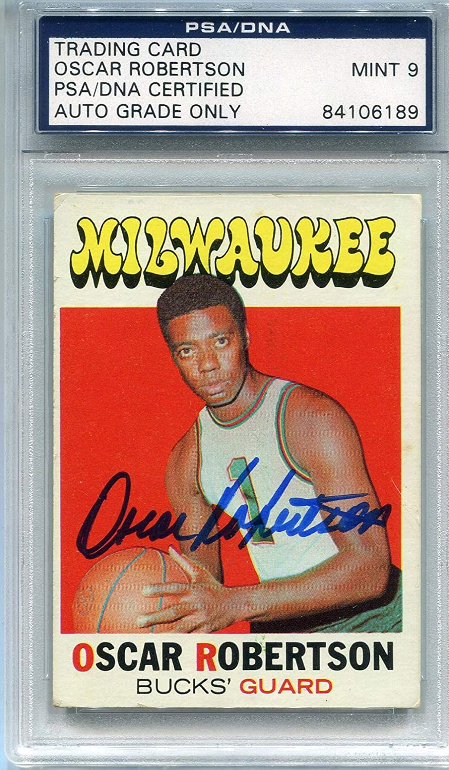 Oscar Robertson Autographed 1971-72 Topps Card (PSA/DNA) - Basketball Autographed Cards