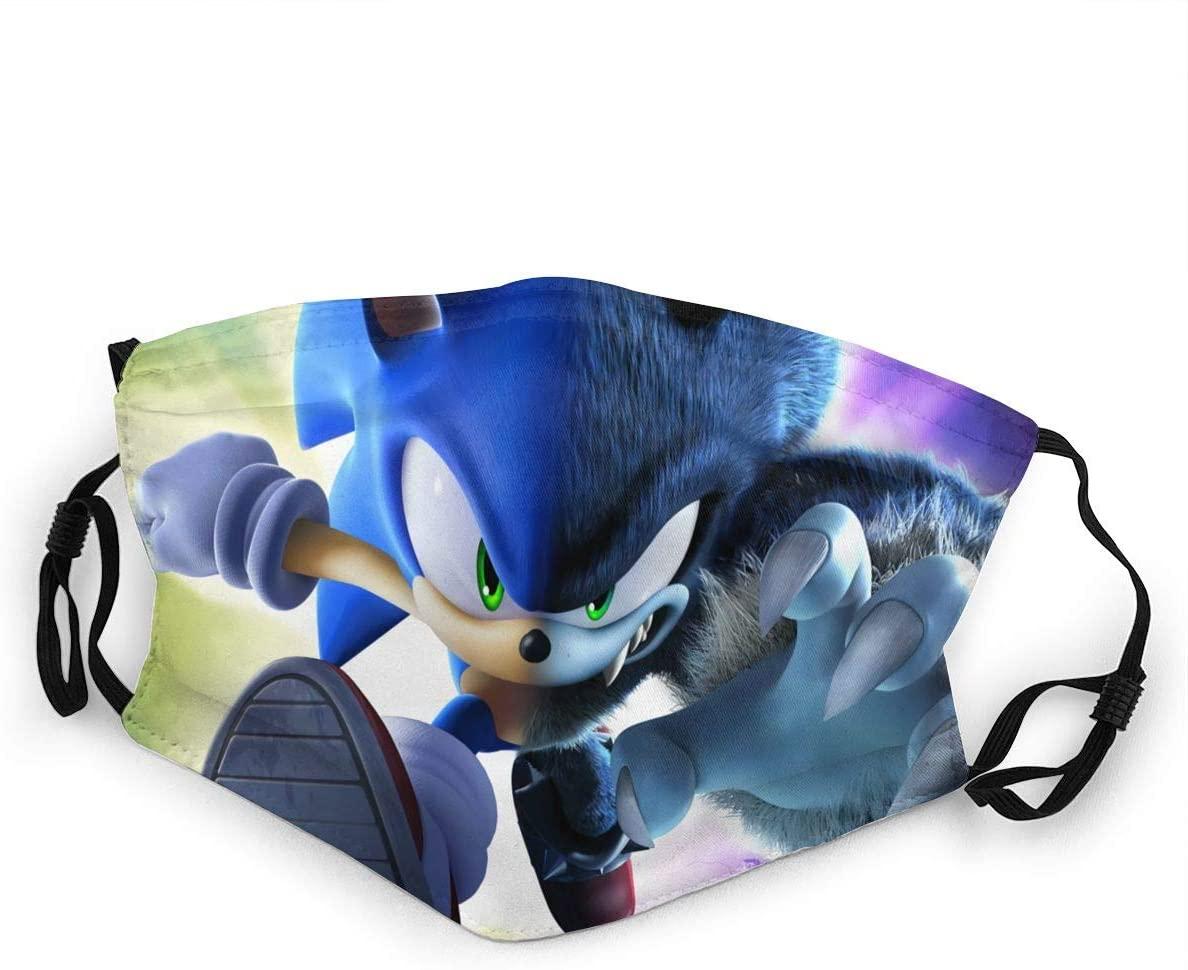 HZIJUE Sonic The Hedgehog Face Mask Masks Windproof Anti Reusable Comfortable Breathable Balaclava 11-1 PCS