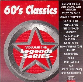 LEGENDS #148 60S CLASSICS Karaoke CD+G Disk 17 Songs