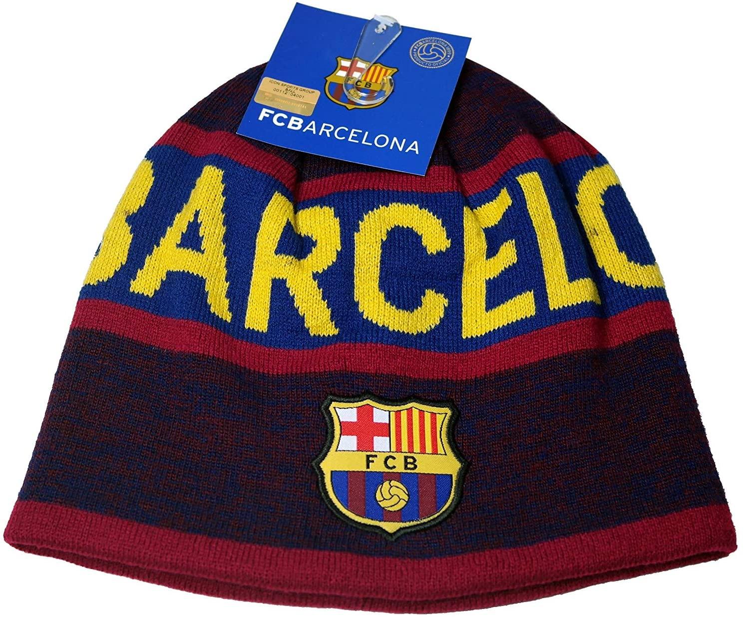 FC Barcelona Authentic Official Football Men's Soccer Beanie
