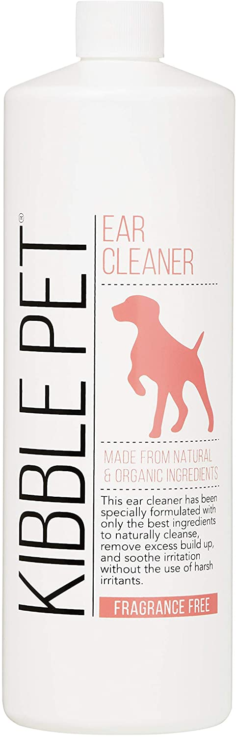 Kibble Pet Ear Cleaner Hypoallergenic   Made with Natural and Organic Ingredients   Made in The USA